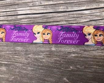 Disney Frozen Anna Elsa Purple Family Forever Ribbon