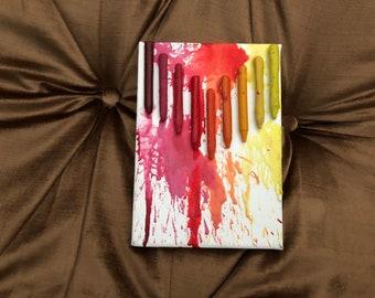 Sunset Crayon Canvas