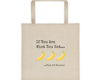 I'm Bananas Reusable Grocery Tote bag