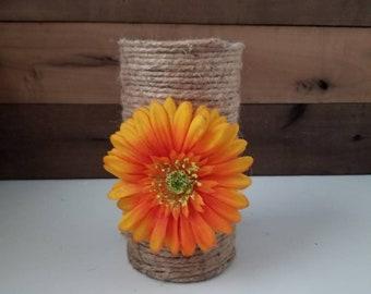 Yellow Sunflower Orange Ribbon