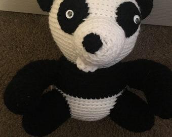 Funny face panda