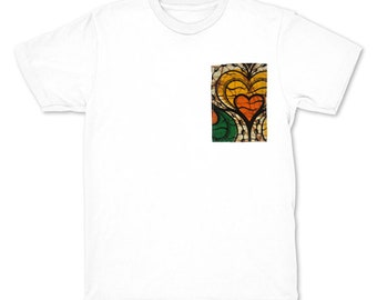 African TeeShirt - Heart Pocket