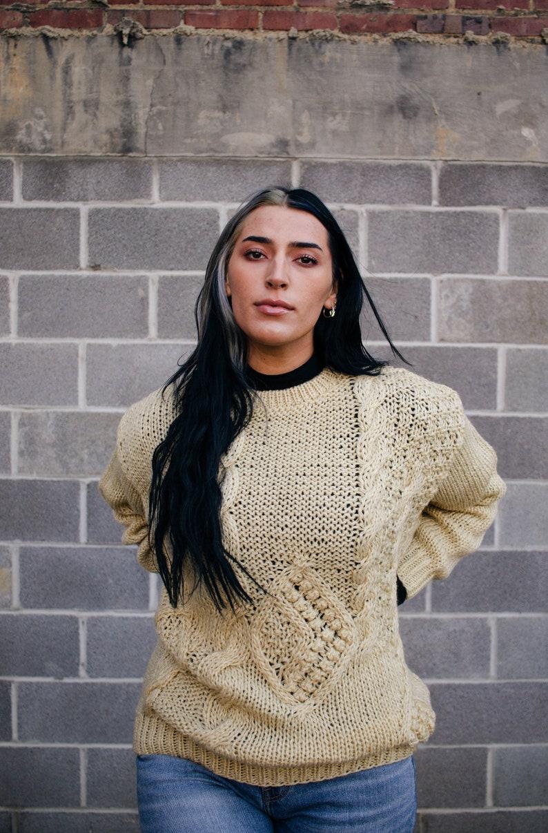 Vintage Women/'s Oversized Pullover Sweater