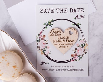 Personalized Save The Date Rustic Save the Date Wood Wedding Invites Wood Wedding SAVE the DATE MAGNETS //// Save the Date Cards