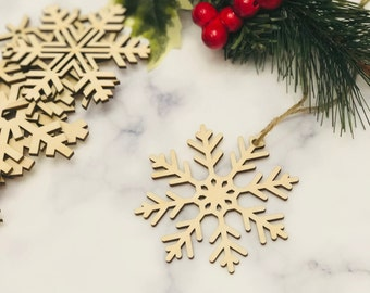 set of wood snowflakeschristmas wooden snowflake ornamentssnowflakes shapeschristmas giftwooden snowflake ornaments laser cut snowflake