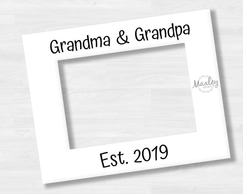 Pregnancy Announcement Personalized Photo Mat with Optional Rustic Barnwood Finish Picture Frame Holds Baby Ultrasound Sonogram