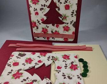 Fun christmas cards etsy christmas tree card kit holiday card kitdiy carddo it yourself cardfun activitygirls nightcustom card kitcraft nightmake it yourself solutioingenieria Choice Image