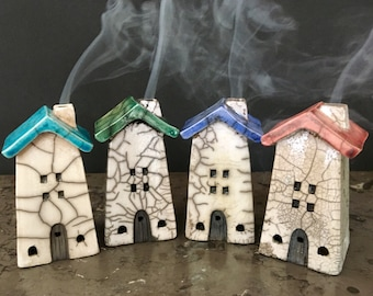 Little house cone incense burners