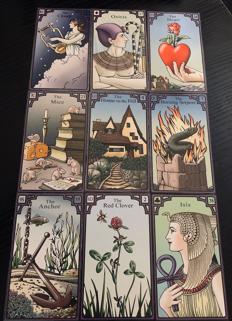 My Love Life In The Coming Month - Lenormand Box Spread - 9 cards reading -  Same day delivery!