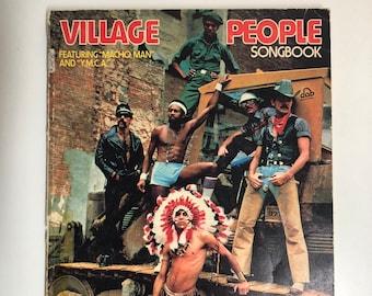 Village People Songbook Ft. Macho Man & YMCA Music Sheet Song Book Vintage 1978