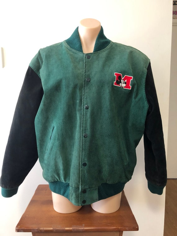 Vintage Mickey Mouse Disney Embroidered Letterman