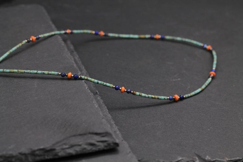 natural tiny pearl necklace tiny pearl necklace and lapis lazuli fine pearl necklace