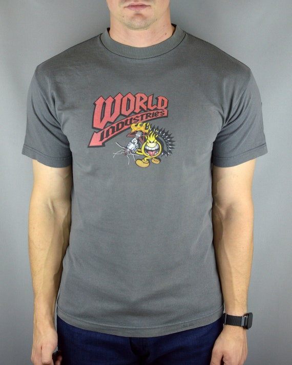 Vintage World Industries Flameboy with guitar t sh