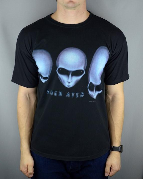 Vintage Alien Workshop Alien Ated 1996 t shirt (Ma