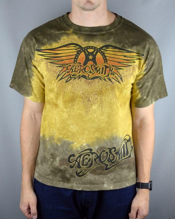 Vintage Aerosmith Liquid Blue Tie Dye t shirt