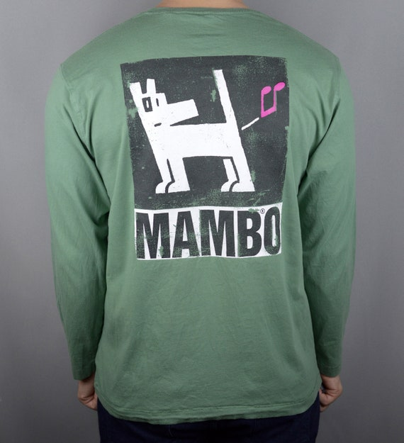 Vintage 90s Mambo Farting Dog longsleeve t shirt