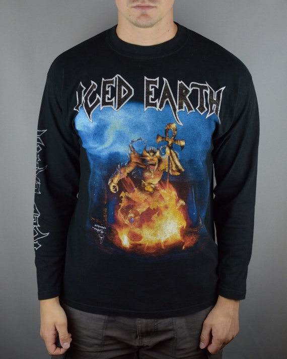 Vintage Iced Earth Alive In Athens 1999 longsleeve