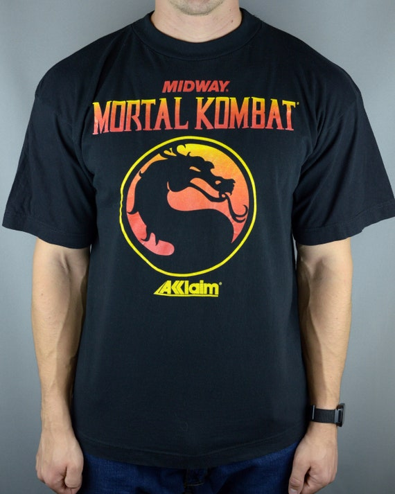 Vintage Mortal Kombat Midway Acclaim 90s t shirt