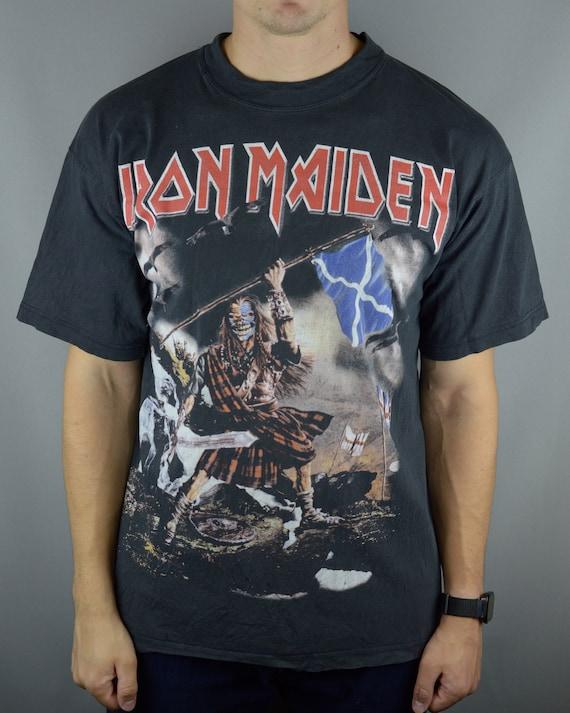Vintage 1990s Iron maiden ed hunter shirt