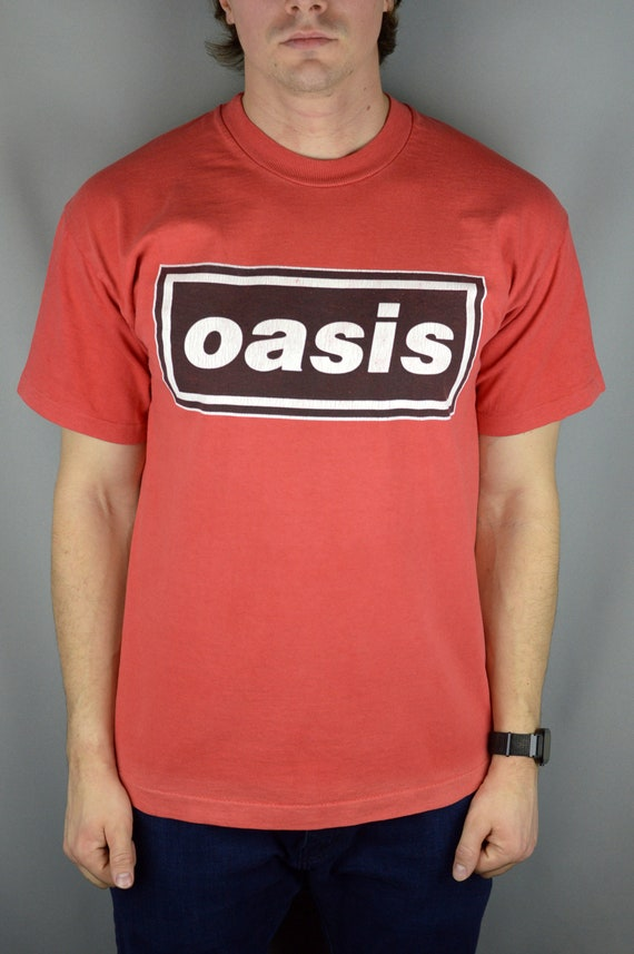 Vintage Oasis Box Logo 90s t shirt ( Single Stitch