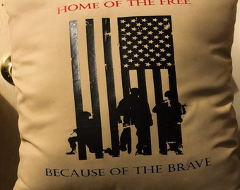 Decorative 4th of July pillow