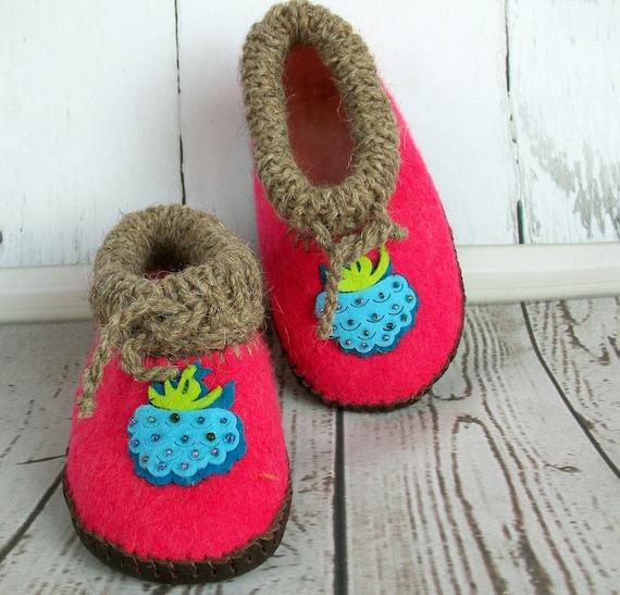 Children\'s footwear Slippers for girls Felt wool slippers Girls house  slippers Children\'s bedroom slippers Shoes Felt slippers Home slippers