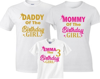 27490391 Birthday Girl Custom Family Unicorn MOM DAD and family Custom Shirts