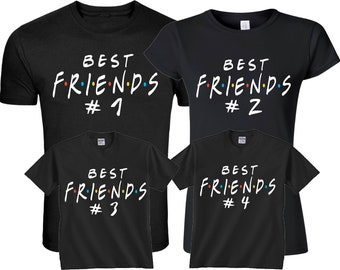 126763f1f95 Best Friends Forever   1 2 3 4 5 6 Hushtag and family Custom Shirts
