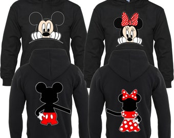 943f13cc0f Mickey and mInnie Head Love Front & back Couples Matching Valentine's  Christmas Custom Hoodies