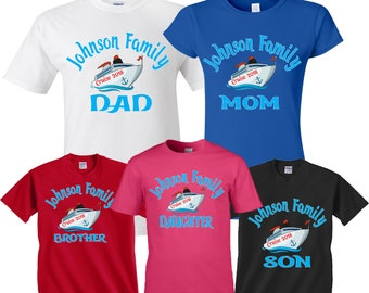 f94e3151afe8 Cruise Family Vacation 2018 MOM DAD and family Custom Family Name Shirts