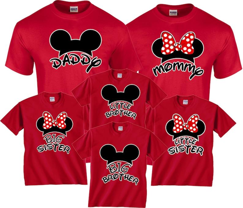 b62cd7c8 Family MOM DAD Mickey & Minnie Disney Family Vacation Custom | Etsy