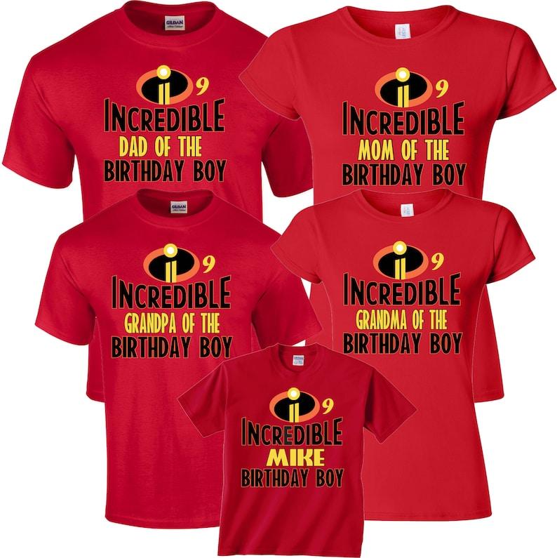 44e98353 The Incredible Family Custom Birthday Boy Custom Family MOM | Etsy