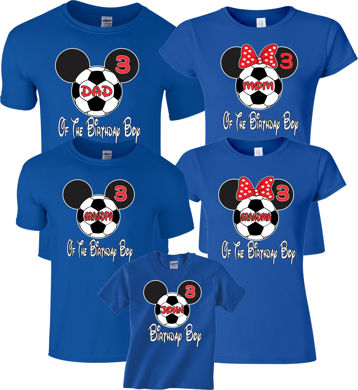 5f50ee3d Birthday Boy Birthday Girl Soccer Ball Custom Family Mickey | Etsy