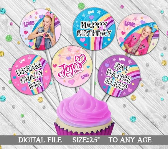 JOJO SIWA Cupcake Toppers Printables JoJo Siwa Digital File