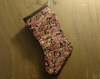 Red Paisley Stocking