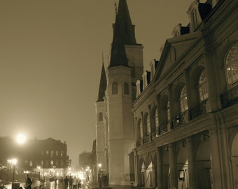 Rainy New Orleans St. Louis Cathedral 11x14