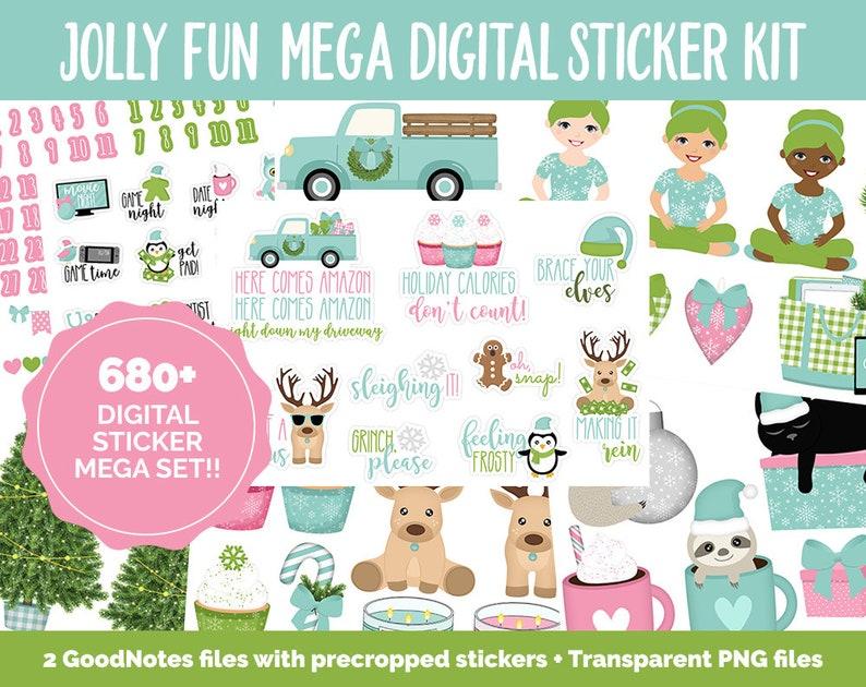 Jolly Fun Digital Sticker Mega Bundle  GoodNotes & iPad  image 0