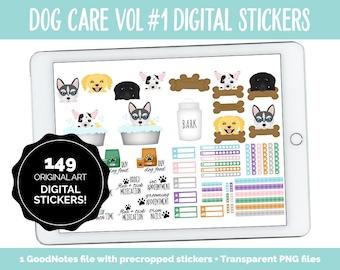 Dog Care Vol #1 | GoodNotes & iPad | Puppy, Chihuahua, Lab, Dachshund, Huskie, Pet Trackers, Vet