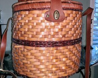 Wicker suit case, Wicker luggage, Wicker picnic basket