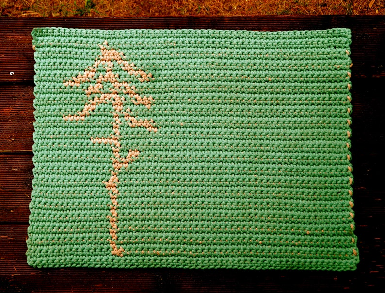 Crochet Pattern // Mini Forest Rug doormat floormat carpet image 1