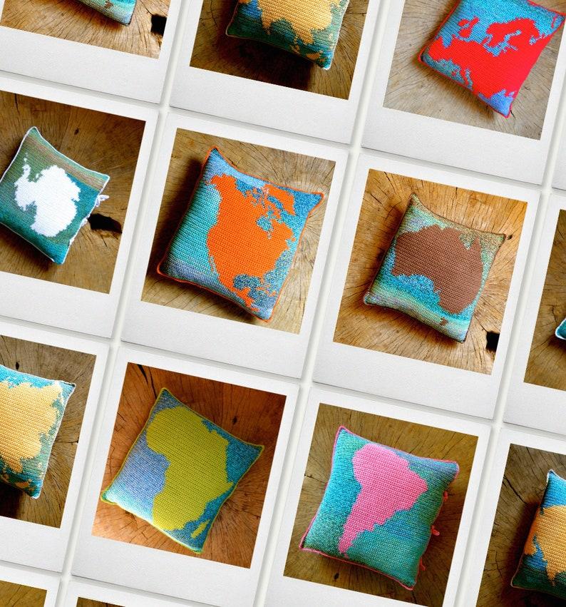 7 Crochet Patterns // Continent Montessori Pillow Cushion image 0
