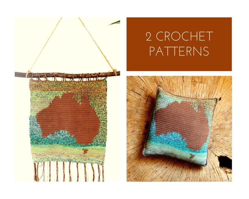 2 Crochet Patterns //Australia Montessori Set: Continent image 0