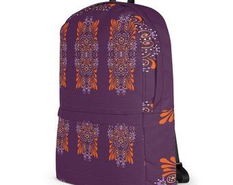 African Dashiki Backpack, Laptop Bagpack, Tribal BackPack