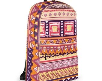 African Dashiki Backpack, Laptop Backpack, Waterproof Backpack, Tribal Backpack