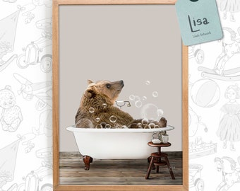 Bear Wall Art Etsy