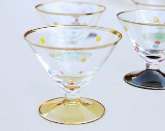 vintage shot cordial glasses