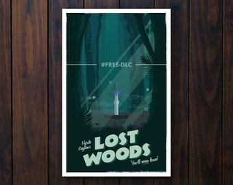 Lost Woods (Legend of Zelda) Travel Poster