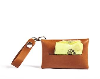 Pet Bag Dispenser Leather Dog Bag Dog Bag Dispenser Poop Bag Holder Personalized Leather Dog Bag Personalized Dog Bag Dog Bag Holder