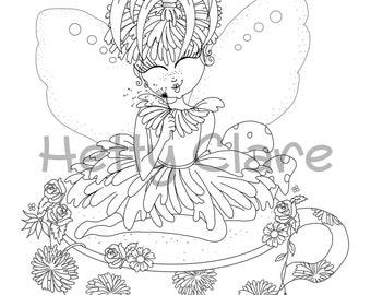 Teacup Fairy Digi Stamp