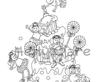 Fairy Hippo Digi Stamp